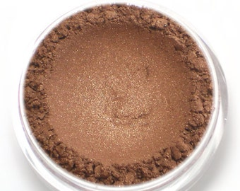 "Shimmery Bronze Eyeshadow - ""Legend"" - Vegan Mineral Eyeshadow Net Wt 2g Mineral Makeup Eye Color Pigment"
