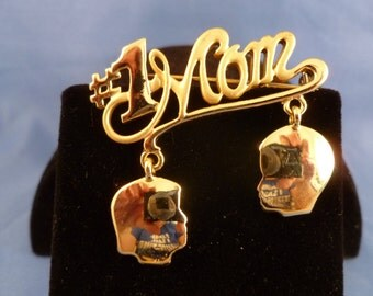 A  Mother Boy and Girl Brooch