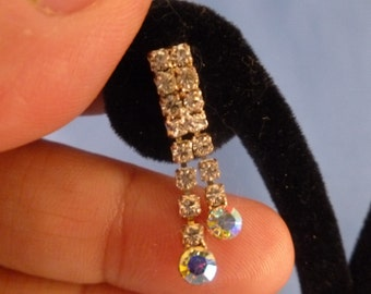 Rhinestone Pierced Earrings