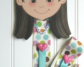 Hair Bow Holder / Personalized, Hand Painted, Unique Gift