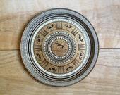 Vintage Grecian Tray, Mid Century, Decorative, Tribal, Geometric
