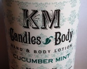Cucumber Mint All Natural Hand and Body Lotion 8oz