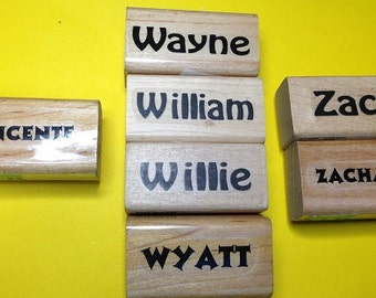 New Unused First Name Rubber Stamps--Male Version Letters 'V' 'W' & 'Z'--sold separately--free shipping US