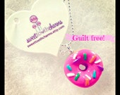 ON SALE!!!!!Sprinkle Doughnut Necklace