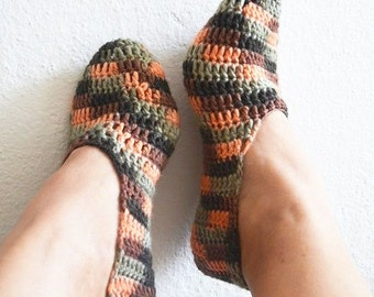 Brown collorful Slipper Socks,Home slippers - Valentine day