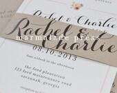 LINDSEY S. Remaining Balance - Southern Shabby Chic Wedding Inviations - Charm, Classic, Peach, Cream, Ivory, Kraft