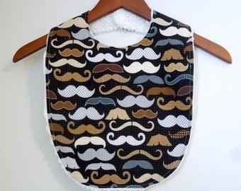 Moustache Toddler Bib