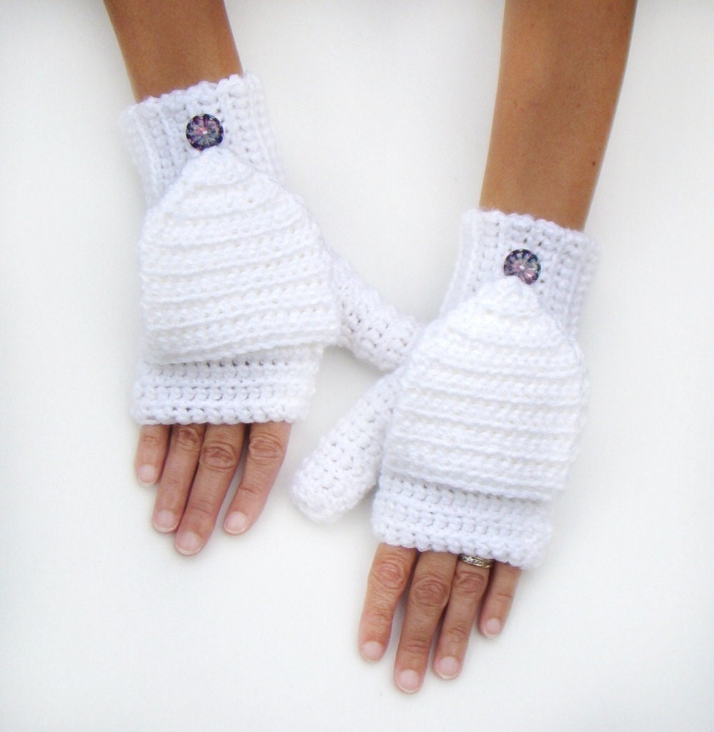 Mens gloves with mitten flap -  Zoom