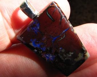 Gorgeous Koroit boulder opal pendant
