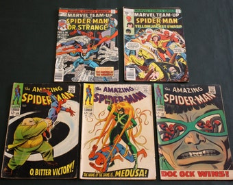 Spider Man Comic Books Vintage Collectible