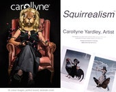 Art Book: Squirrealism, Carollyne Yardley Art, Pop Surrealism Animal Art