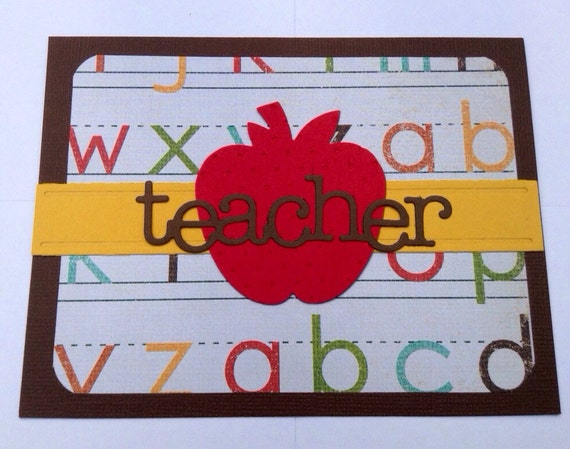 Teacher Card with Apple