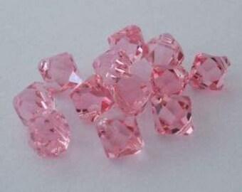 SWAROVSKI 6301 Top Drilled Bicone Pendant Crystal LIGHT ROSE