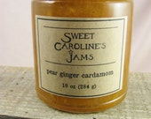 Pear Ginger Cardamom - Best. Jam. Ever.  - Organic Washington Pears - 10 oz