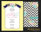 Floral Baby Invitation