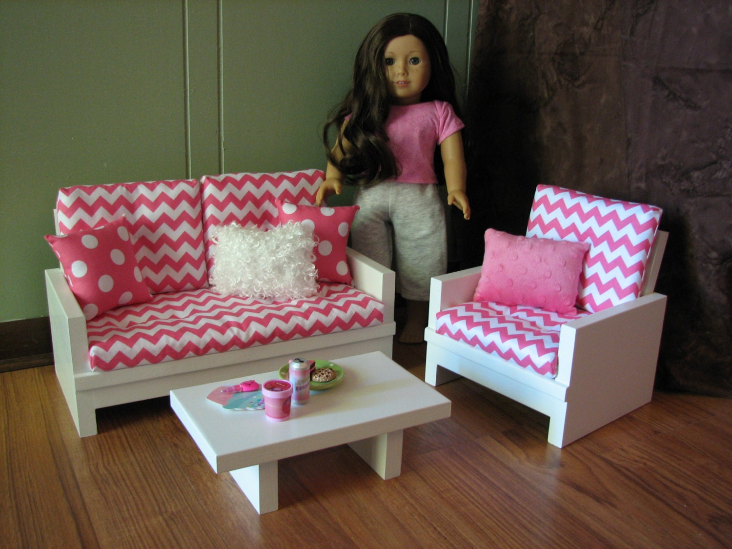 American Girl sized Living Room / 18 Doll Furniture
