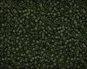15/0 TOHO seed beads 10g Toho beads 15/0 seed beads Olivine 15-940 Green last