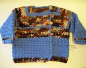 SALE*** Long Sleeve Baby Sweater by Angel Kisses 12-18M Rusty Blue
