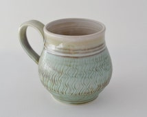 Turquoise Ceramic Mug with Handle for Tea or Coffee, Made to Order