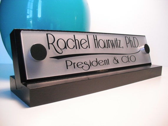 Office Name Plates: Office Accessories Decor Desk Name Plate For Her By GaroSigns