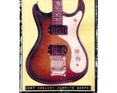 kurt cobain famous guitar art, nirvana, music wall decor, musicians gift, gift for guy, gift for boyfriend, hipster, dude, rock n roll art