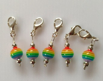 Rainbow crochet stitch markers
