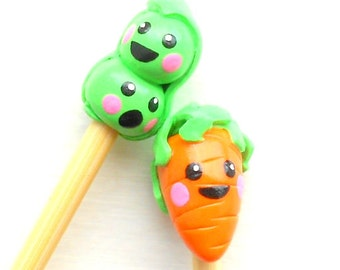Peas and Carrot Knitting Needles