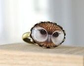 Owl Jewelry - Owl Ring, Fashion accessory, Animal bird jewelry, gift idea for owl lover, woodland jewelry