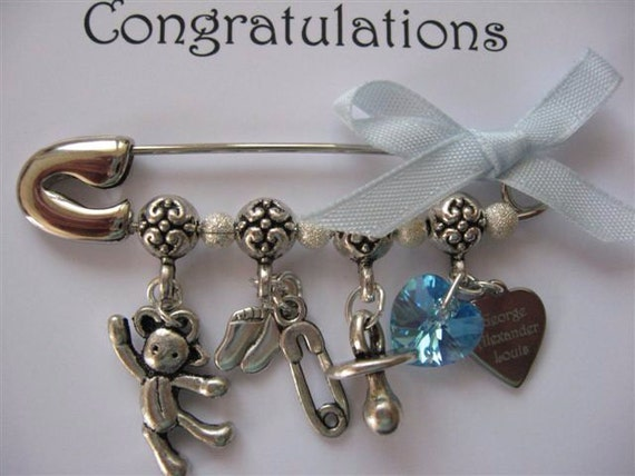 Royal Baby Commemorative Nappy Pin for HRH Prince George of Cambridge