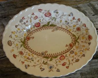 SALE - Bowl, Serving, Vintage, Vernon Kilns, Desert Bloom, Woodland, Traditional, Flowers, Pastels, Victorian