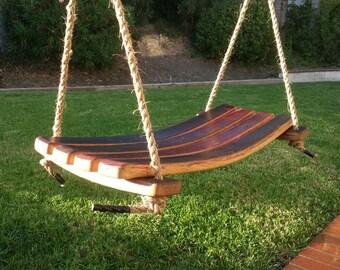 Wine Barrel Stave Swing