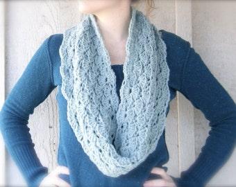 Crochet Infinity Scarf Pattern Shell : Items similar to Crochet Infinity Scarf Pattern Shell ...