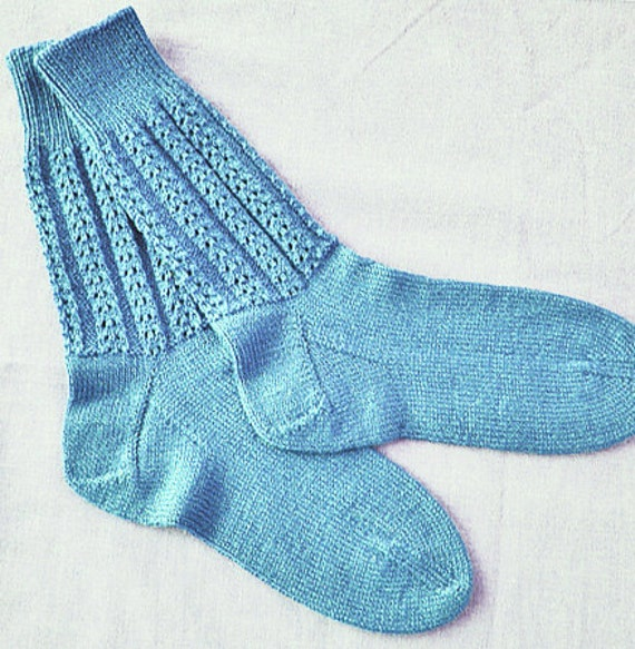Double Knit Sock Pattern : Items similar to Knit Panorama Sock Pattern by Double Diamond Knits permissio...