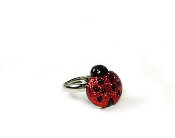 Ladybug Ring Ladybug Jewelry Novelty Ring Size 3 4 5  6  7 8 9