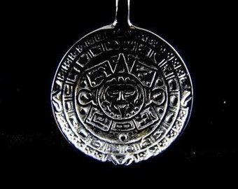 Sterling Silver Spoon Souvenir of Mexico Eagle Top Mayan Sun Bowl Marked 925