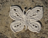 Butterfly crochet with cotton