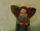 Handmade Clothespin Country Angel Ornament