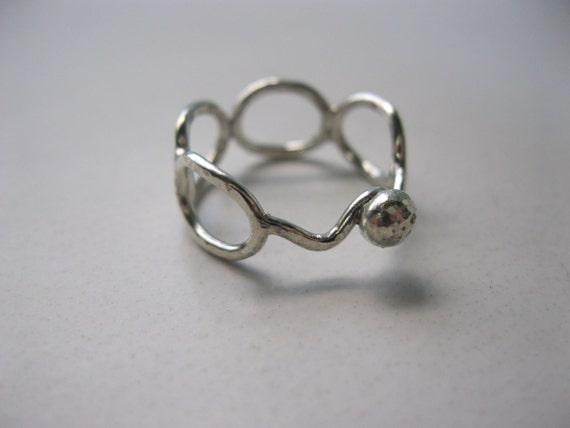 argentium silver loop ring non tarnish silver rings