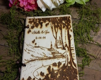 Wedding Guest Book Rustic Wedding Guest Book Personalized