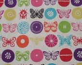Echino Butterfly Beetle Print Linen Cotton Width 50cm x 110cm