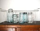 Vintage Wire Basket  Industrial Storage