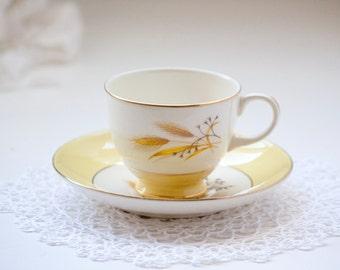 Tea Cup and Saucer, Autumn Gold Wheat Alliance Ohio