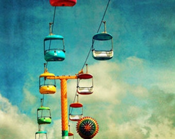 "The Boardwalk in Santa Cruz, CA ""Sky Tram""  Fine Art Photographic Print in Various Sizes"