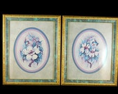 Huge Clearance Sale Vintage Home Interior Humming Bird Pictures Set of 2