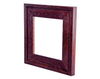 """6"""" x 6"""" Mission style quarter-sawn fumed white oak tile frame"""