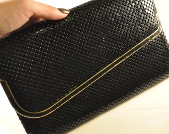 Vintage Black Mesh Disco Clutch - Funky