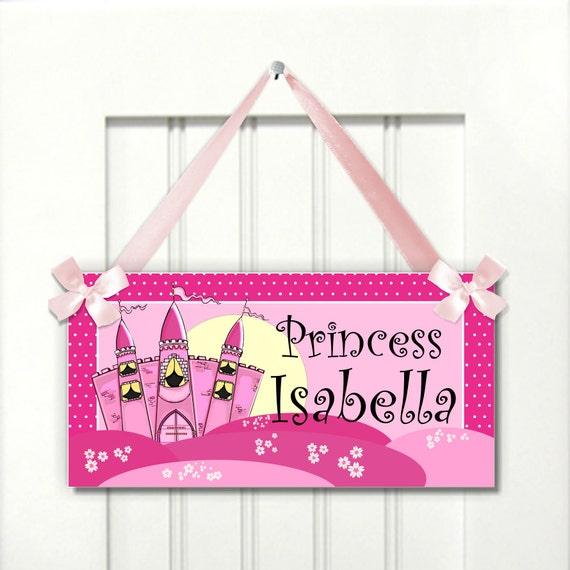 Princess castle fairytale room door sign nursery by kasefazem for Princess fairy door