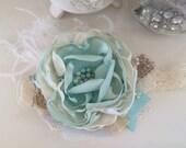 Baby Headbands- Mint Headband- Newborn Headband- Flower Girl Headband-Persnickety Headband