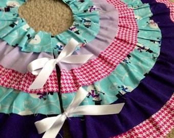 READY TO SHIP 2' Ruffled Tree Skirt