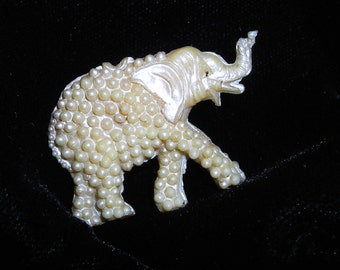 Vintage Pearl Elephant........With Trunk Up Means Good Luck